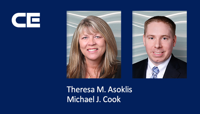 Attorneys Theresa M. Asoklis and Michael J. Cook