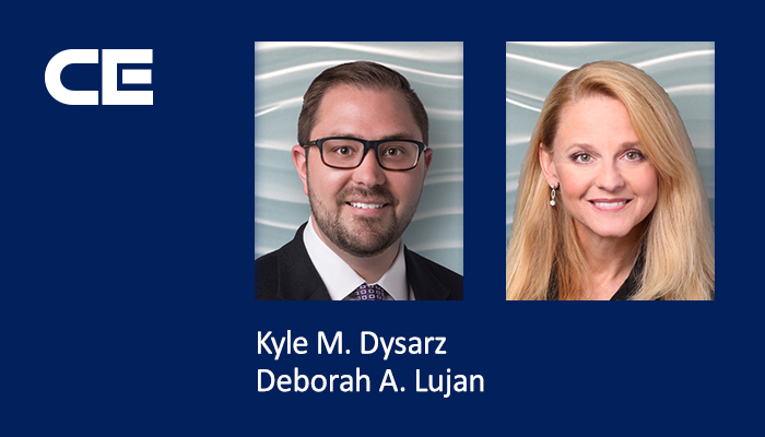 Collins Einhorn Farrell attorneys Kyle M. Dysarz and Deborah A. Lujan