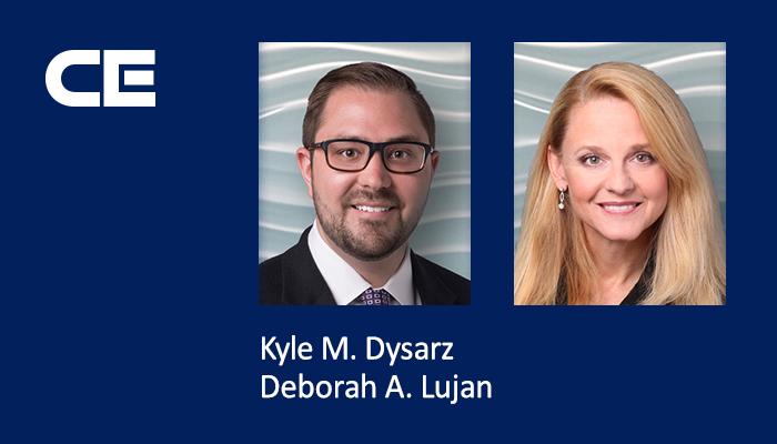 Collins Einhorn Farrell attorneys Kyle M. Dysarz and Deborah A. Lujan