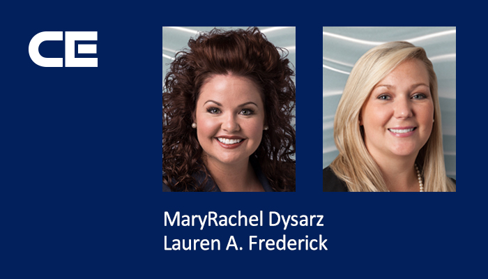 Attorneys MaryRachel Dysarz and Lauren A. Frederick