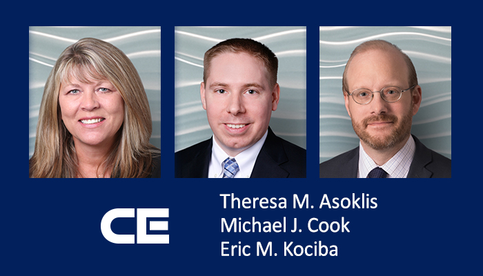 CEF attorneys Theresa Asoklis, Michael Cook and Eric Kociba