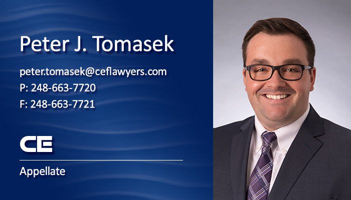 Collins Einhorn Appellate Attorney Peter J. Tomasek