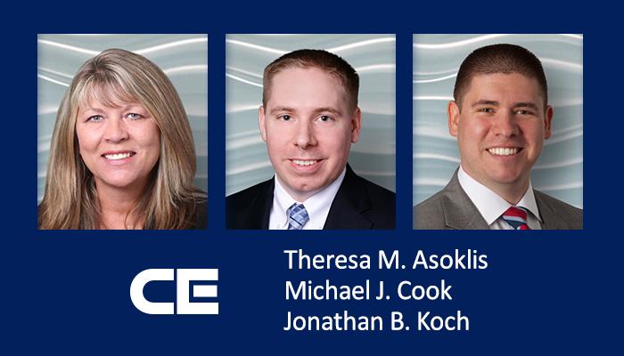 CEF Attorneys Theresa Asoklis, Michael Cook and Jonathan Koch