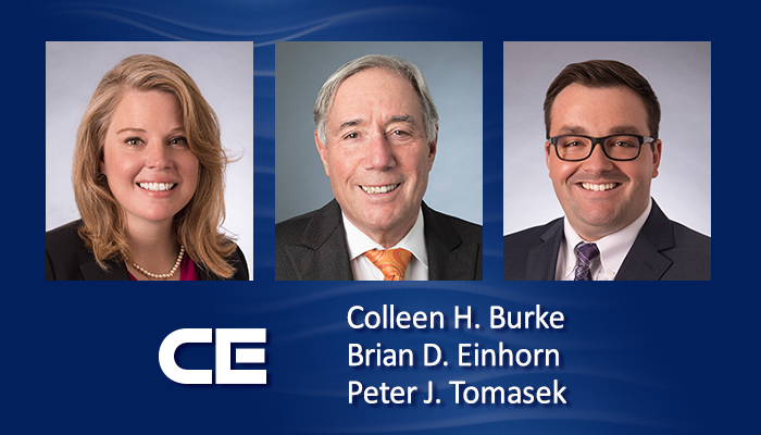 Attorneys Colleen Burke, Brian Einhorn and Peter Tomasek